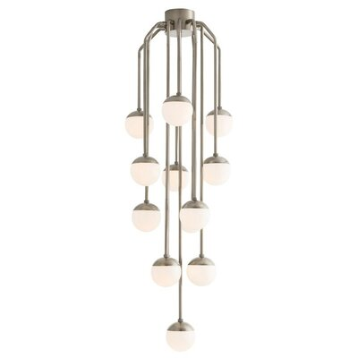 13-Light LED Cluster Pendant Color: Vintage Silver