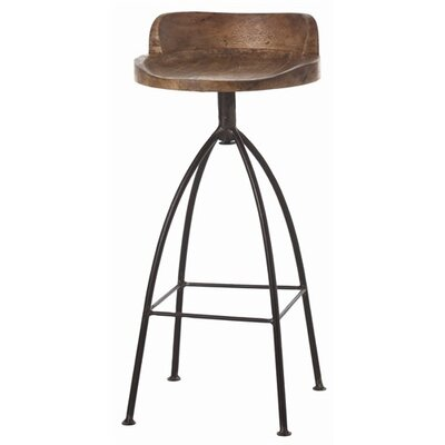 Hinkley Wood / Iron Swivel Barstool