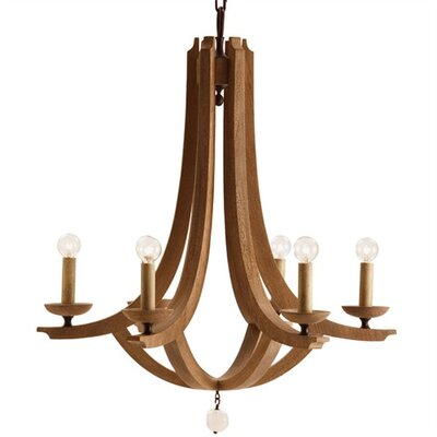 Manning 6-Light Candle-Style Chandelier Size: Large