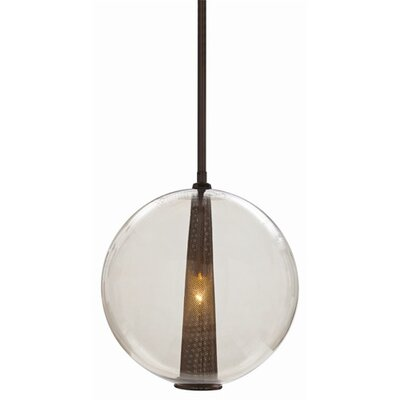 1-Light Pendant Finish: Brown Nickel / Smoke, Size: Large