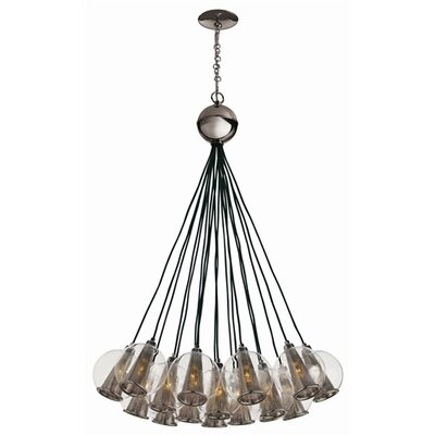 Caviar 18-Light Cluster Pendant Finish: Brown Nickel / Smoke