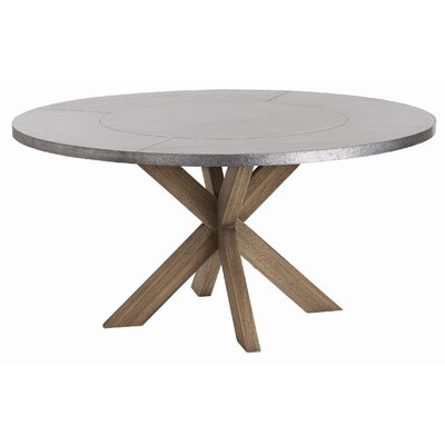 Halton Dining Table Top Color: Galvanized Steel