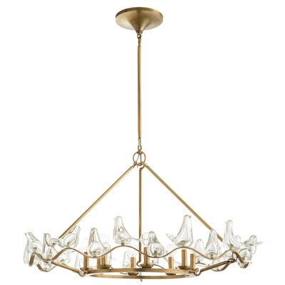 Dove 8-Light Candle-Style Chandelier