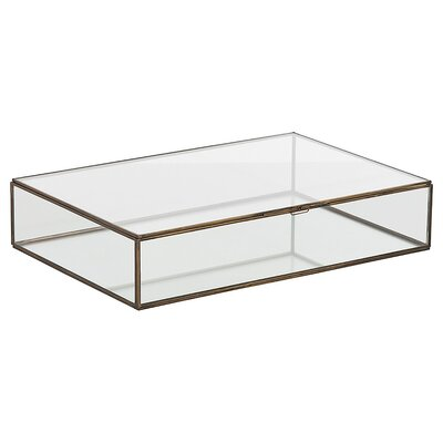 Fuller Glass Document Box Size: Large