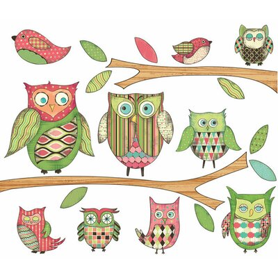 Owls Wall Decal Color: Pink