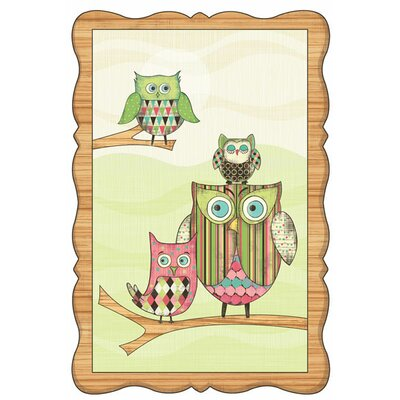 Owl Wall Mural Color: Pink