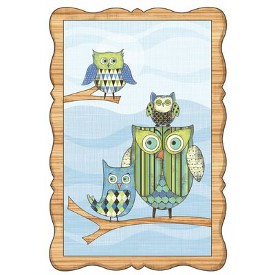 Owl Wall Mural Color: Blue
