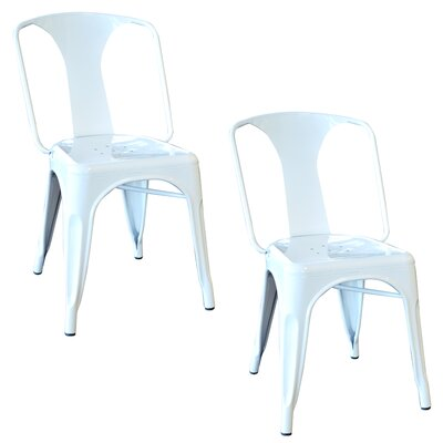 Racheal Metal Side Chair Finish: White