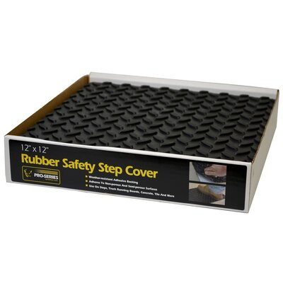 Wayfair Basics Adhesive Rubber Step Cover Size: 0.25 H x 12 W x 12 D