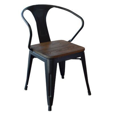 Racheal Solid Wood Dining Chair Finish: Black