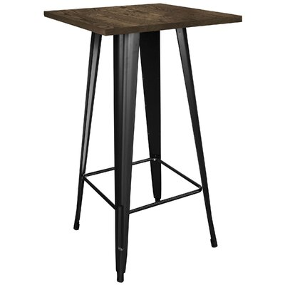 Kori Loft Black Pub Table Finish: Black