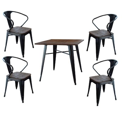 Racheal Loft 5 Piece Dining Set