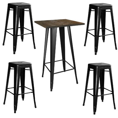 Racheal Loft 5 Piece Pub Table Set