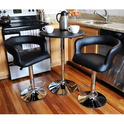 Southampton Modern Curvey 3 Piece Pub Table Set