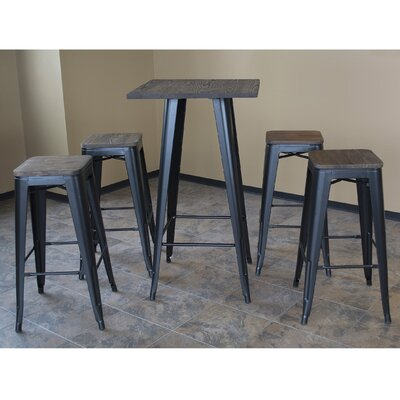 Racheal Loft 5 Piece Dining Set Finish: Black