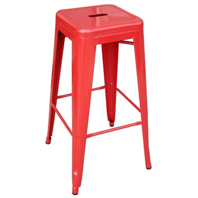 Racheal 30 Bar Stool Finish: Red