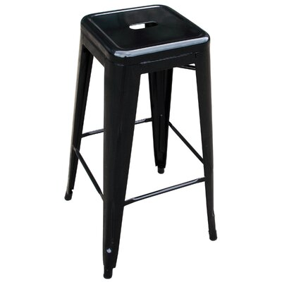 Racheal 30 Bar Stool Finish: Black