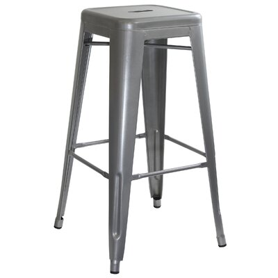 Racheal 30 Bar Stool Finish: Silver