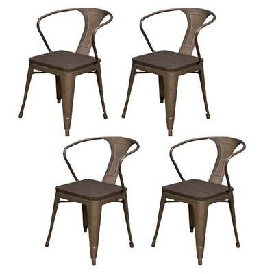 Racheal Solid Wood Dining Chair Finish: Rustic Gunmetal