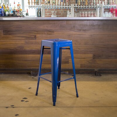 Racheal 30 Bar Stool Finish: Blue