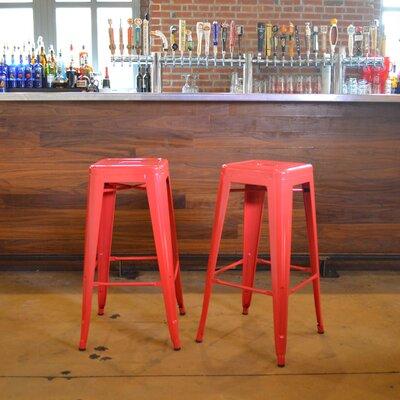 Racheal 30 inch Bar Stool Finish: Red