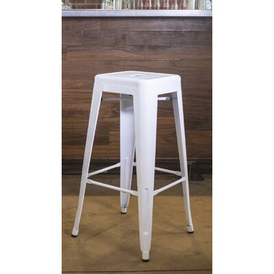 Racheal 30 Bar Stool Finish: White