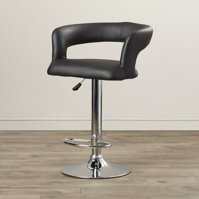 AmeriHome Adjustable Height Swivel Bar Stool with Cushion