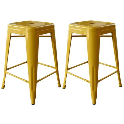 Racheal 24 Bar Stool Upholstery: Gold