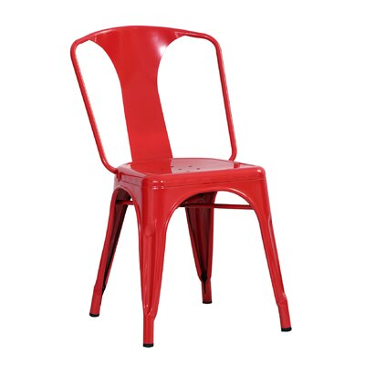 Racheal Side Chair Finish: Red