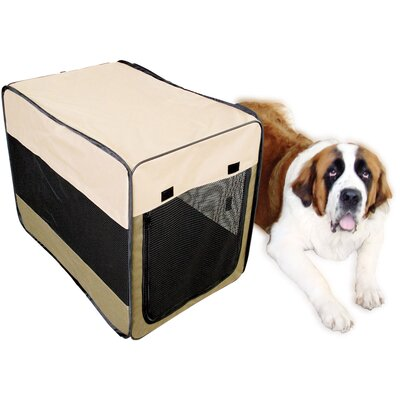 Soft Sided Steel and Cloth Portable Yard Kennel Size: 42 H x 28 W x 30 L