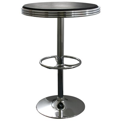 Southampton Soda Fountain Pub Table Color: Black