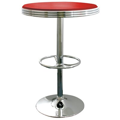 Southampton Soda Fountain Pub Table Finish: Red