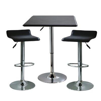 AmeriHome I 3 Piece Adjustable Height Pub Table Set