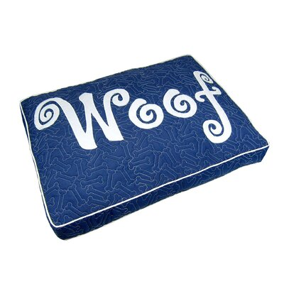 Woof Boxed Pet Bed Color: Blue
