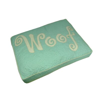 Woof Boxed Pet Bed Color: Seaglass