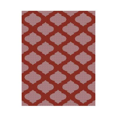Red/Ivory Indoor/Outdoor Area Rug Rug Size: Round 710