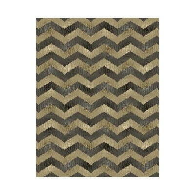 Chevron Brown Indoor/Outdoor Area Rug Rug Size: Round 710