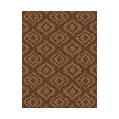 Ikat Brown Indoor/Outdoor Area Rug Rug Size: Round 710