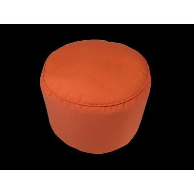 Sunbrella Round Pouf Ottoman Upholstery: Melon