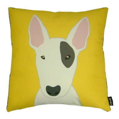 Bull Terrier Synthetic Throw Pillow