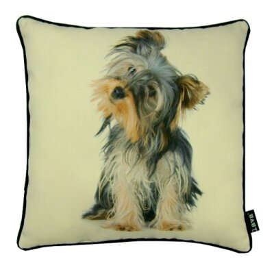 Yorkie Pup Synthetic Fabric Throw Pillow