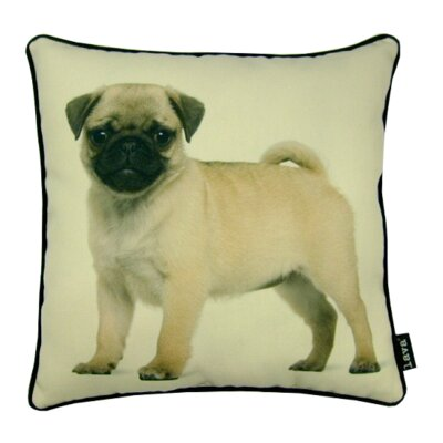 Pug Pup Synthetic Fabric Throw Pillow