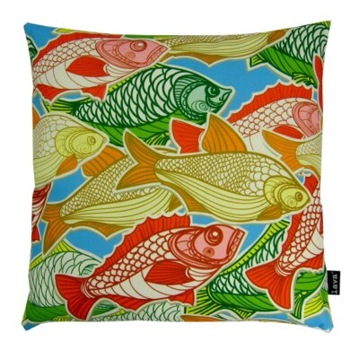 Swimming Fish Indoor/Outdoor Throw Pillow