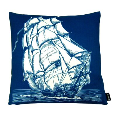 Ship on White Indoor/Outdoor Throw Pillow