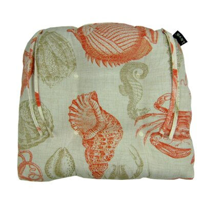 Sea Indoor/Outdoor Dining Chair Cushion Fabric: Coral