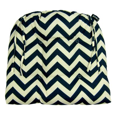 Chevron Indoor/Outdoor Dining Chair Cushion Fabric: Night