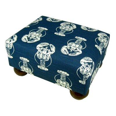 Lobster Ottoman Upholstery: Navy