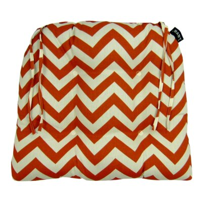 Chevron Indoor/Outdoor Dining Chair Cushion Fabric: Spice