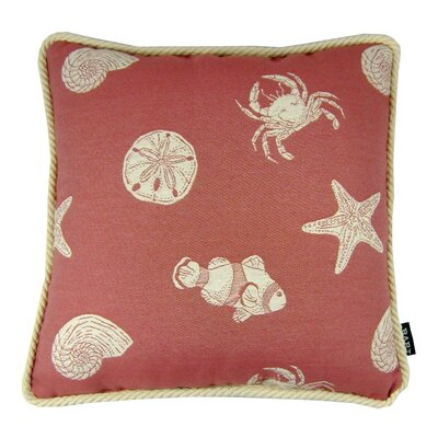 Keywest Throw Pillow Color: Salmon