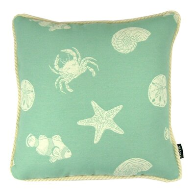Keywest Throw Pillow Color: Neptune
